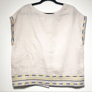 Artisan NY Linen Sleeveless Button Back Top